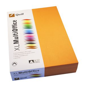 Quill Coloured Paper 80gsm A4 Orange 500 Sheet Ream