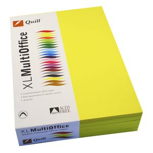 Quill Coloured Paper 80gsm A4 Lemon 500 Sheet Ream
