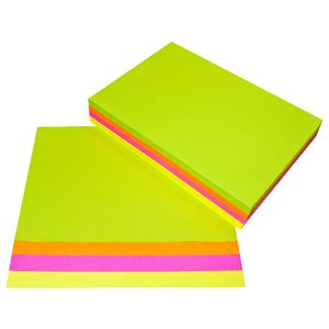 Quill Papers A4 Ream Assorted Fluoro Colours