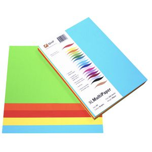 Quill XL MultiPaper 80gsm A4 Assorted Brights 250 Pack