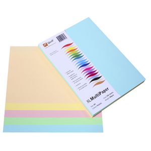 Quill XL MultiPaper 80gsm A4 Assorted Pastels 250 Pack