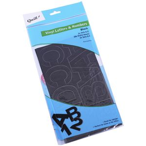 Quill Poster Board Vinyl Stickers Black 100 Pack