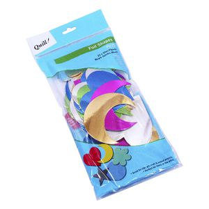 Quill Poster Board Foil Shapes Assorted 75 Pack