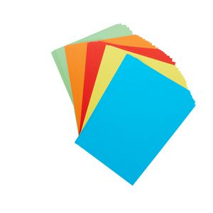 Quill XL MultiBoard 210gsm A4 Assorted Bright Colours 50 Pack