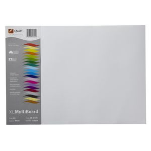 Quill XL MultiBoard 200gsm A3 White 25 Pack