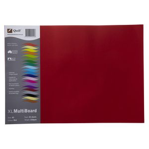 Quill XL Board 210gsm A3 Red 25 Pack