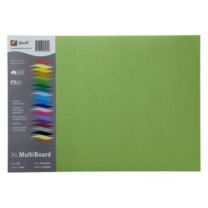 Quill XL Board 210gsm A3 Lime 25 Pack