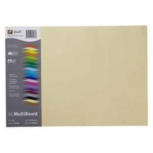 Quill XL Board 210gsm A3 Cream 25 Pack