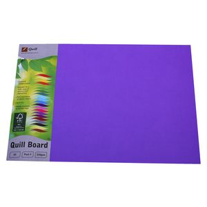 Quill Board 210gsm A3 Lilac 5 Pack