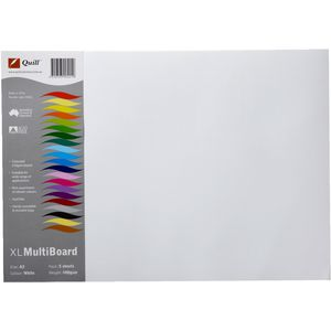 Quill XL MultiBoard 600gsm A3 White 5 Pack