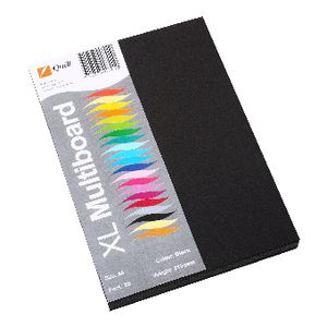 Quill XL MultiBoard 210gsm A5 Black 50 Pack
