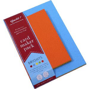 Quill Card Maker Brights Assorted Pack of 25