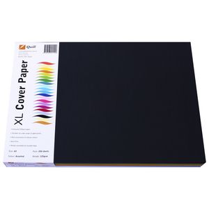 Quill 125gsm A3 XL Cover Paper Assorted Colours 250 Pack