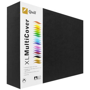Quill 125gsm A3 Cover Board Black 500 Sheets