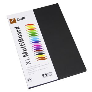 Quill A4 210gsm Board Black Pk/50