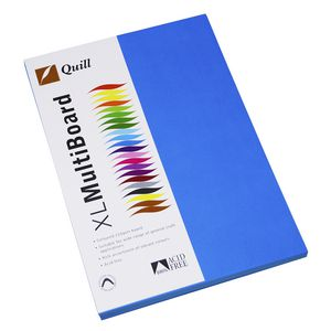 Quill XL MultiBoard 210gsm A4 Marine Blue 50 Pack