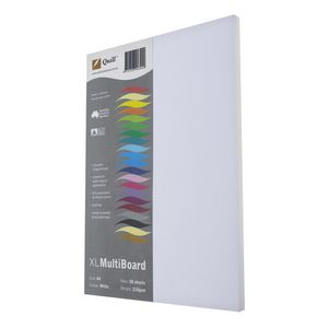 Quill A4 Board 200gsm White 50 Pack
