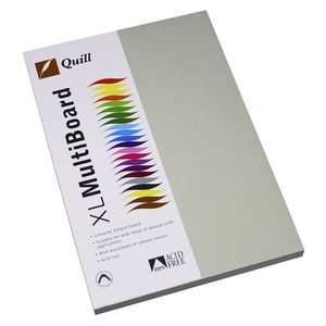 Quill XL MultiBoard 210gsm A4 Grey 50 Pack