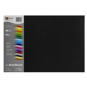 Quill XL MultiBoard 210gsm A3 Black 5 Pack