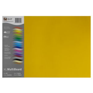 Quill XL MultiBoard 210gsm A3 Sunshine 5 Pack