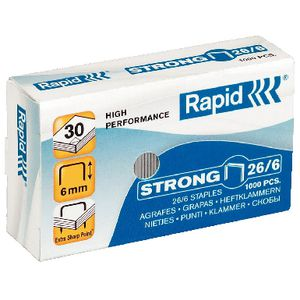 Rapid 26/6 Strong Staples 1000 Pack