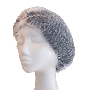 "Pro-Val White Crimped Beret 21"" 1000 Pack"
