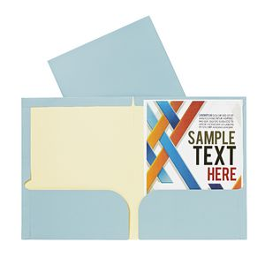 Report Cover A4 Matte Laminate Dusty Blue