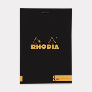 Rhodia No. 12 Premium Plain Notepad Black