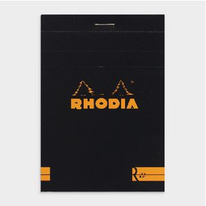 Rhodia No. 12 Premium Lined Notepad Black