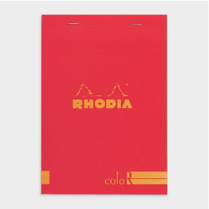 Rhodia No. 16 Premium Lined Notepad Red