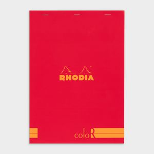 Rhodia No. 18 Premium Lined Notepad Poppy Red