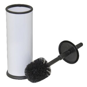 Compass Toilet Brush Powder Coated Black and White