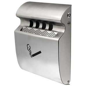 Compass Wall Mounted Ash Tray Stainless Steel
