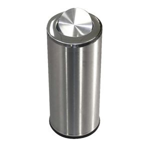 Compass Brushed Stainless Steel Swing Top Bin 62L