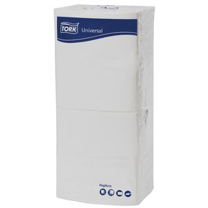 Tork 1 Ply Folded Dinner Napkins White 250 Pack