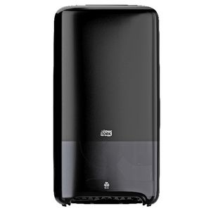 Tork T6 Compact Toilet Paper Roll Dispenser Auto Shift Black