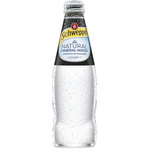 Schweppes Natural Mineral Water Glass Bottle 300mL 6x4 Pack