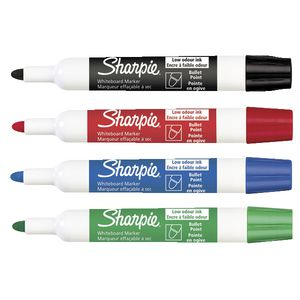 Sharpie Whiteboard Markers Assorted 4 Pack