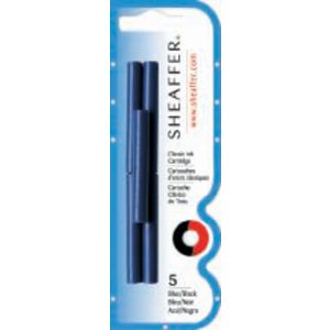 Sheaffer Fountain Pen Refill Cartridges Blue/Black Pack/5