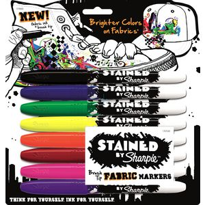 Sharpie Stained Fabric Markers Assorted 8 Pack