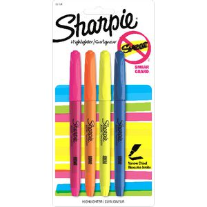 Sharpie Pocket Highlighters Assorted 4 Pack