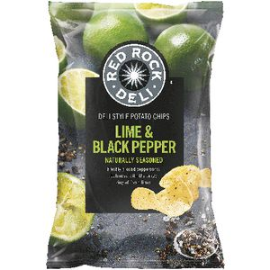 Red Rock Deli Lime and Black Pepper Chips 165g