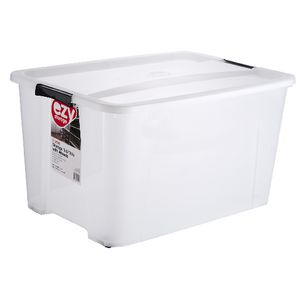 Ezy Storage 92L Storage Tub Clear