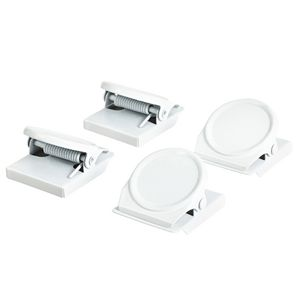 J.Burrows Magnetic Clips Round White 4 Pack