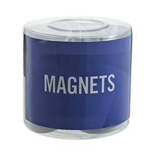 J.Burrows Round Magnets White 50 Pack