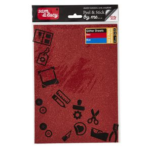 Sam and Lucy Foam Glitter Red and Blue 2 Pack