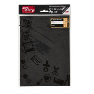 Sam and Lucy Glitter Sheets White and Black 2 Pack