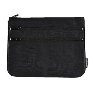Smash Triple Zip Ripstop Pencil Case Large Black