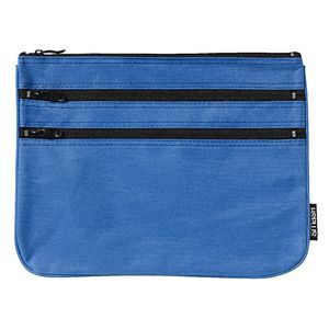 Smash Triple Zip Ripstop Pencil Case Large Blue