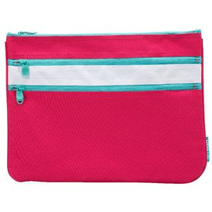 Smash Triple Zip Pencil Case Large Pink